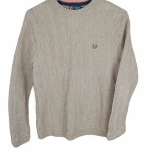 CHAPS 100% cotton men's knitted sweater crew neck
